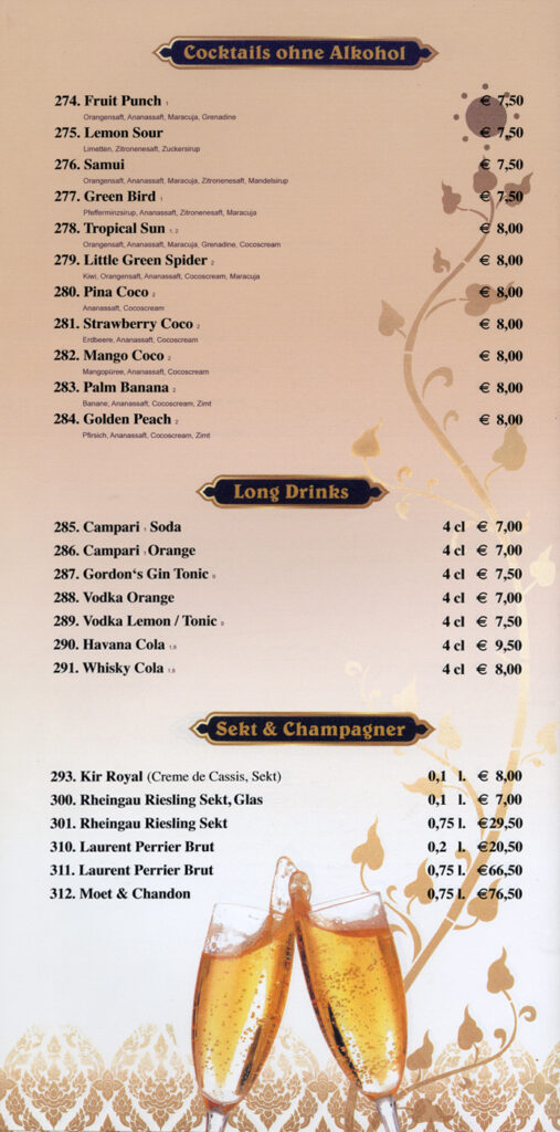 Longdrinks & Champagner