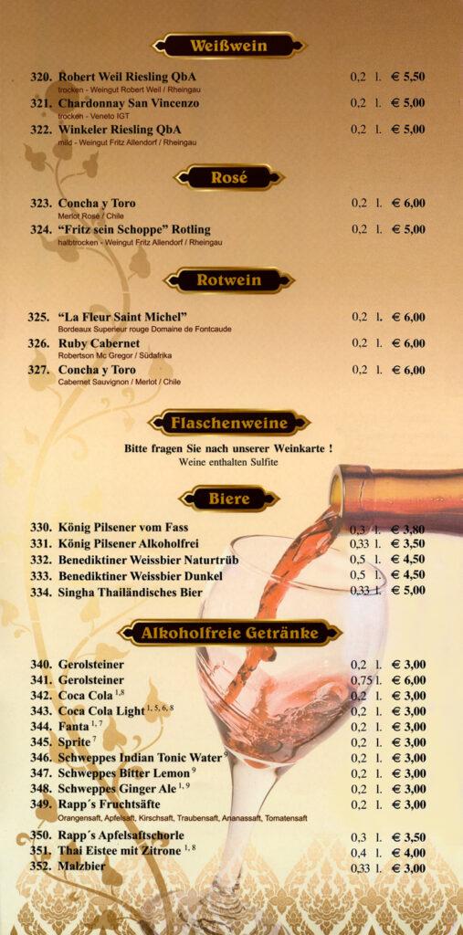 Weine, Biere & Alkoholfreihe Getränke